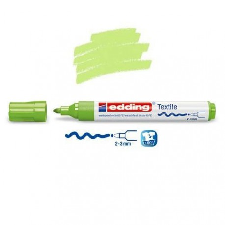 Marqueur textile Vert clair pointe 2-3 mm