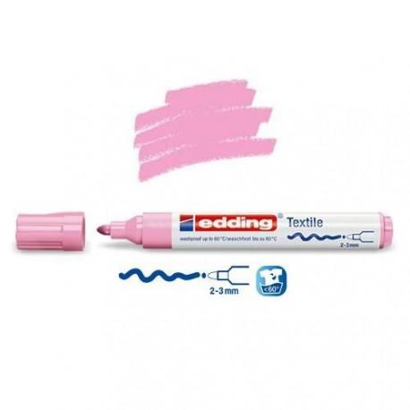 Marqueur textile Rose fluo pointe 2-3 mm
