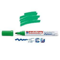 Marqueur satin mat pour surfaces poreuses, Vert pointe 2-4 mm
