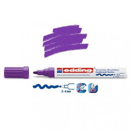 Marqueur satin mat pour surfaces poreuses, Violet pointe 2-4 mm