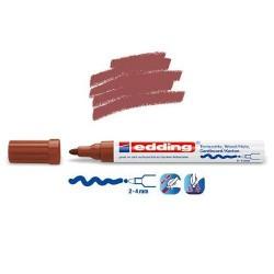 Marqueur satin mat pour surfaces poreuses, Marron pointe 2-4 mm