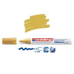 Marqueur satin mat pour surfaces poreuses, Or pointe 2-4 mm