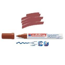 Marqueur satin mat pour surfaces poreuses, Marron pointe 1-2 mm