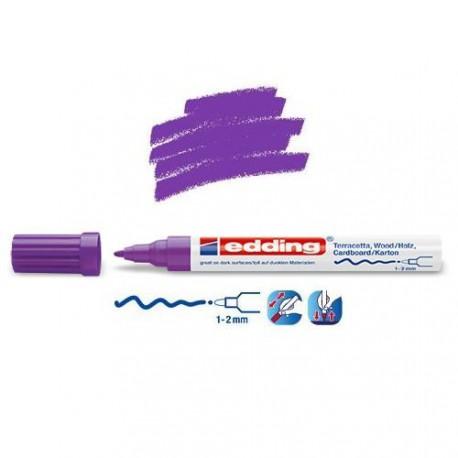 Marqueur satin mat pour surfaces poreuses, Violet pointe 1-2 mm