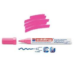 Marqueur satin mat pour surfaces poreuses, Rose pointe 1-2 mm