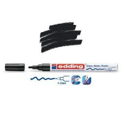 Marqueur sur verre - peinture brillante Noir pointe 1-2 mm