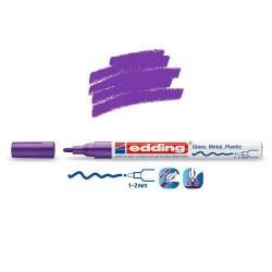 Marqueur sur verre - peinture brillante Violet pointe 1-2 mm