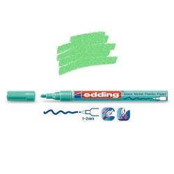 Marqueur sur verre - peinture brillante Vert métallisé pointe 1-2 mm