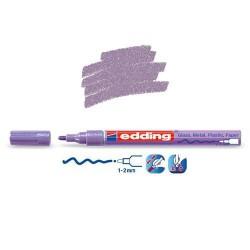 Marqueur sur verre - peinture brillante Violet métallisé pointe 1-2 mm