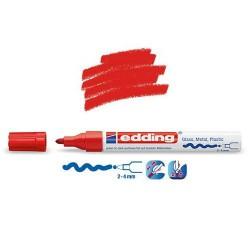 Marqueur sur verre - peinture brillante Rouge pointe 2-4 mm
