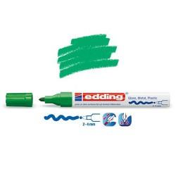 Marqueur sur verre - peinture brillante Vert pointe 2-4 mm