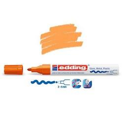 Marqueur sur verre - peinture brillante Orange pointe 2-4 mm