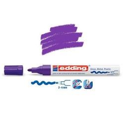 Marqueur sur verre - peinture brillante Violet pointe 2-4 mm