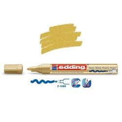 Marqueur sur verre - peinture brillante Or pointe 2-4 mm
