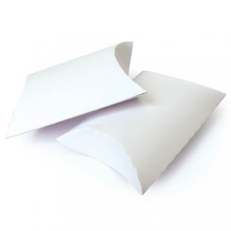 6 Boîtes berlingot blanches 12,3 x 7,7 cm