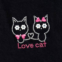 Transfert textile thermocollant I love Cat