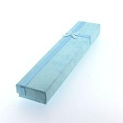 Boîte rectangulaire turquoise 20 x 4 cm