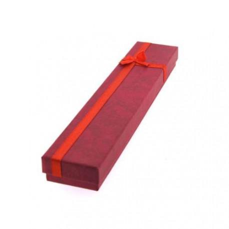 Boîte rectangulaire rouge 20 x 4 cm