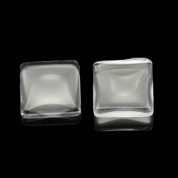 Cabochon carré 15 mm en verre