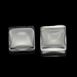 Cabochon carré 10 mm en verre
