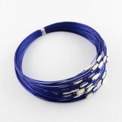 Collier métal couleur bleu foncé, 45 cm