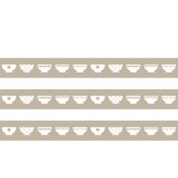 Masking Tape Bols beiges - 15 mm x 10 m