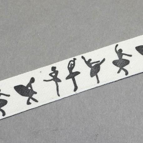 Ruban Danseuses, 15 mm, au mètre