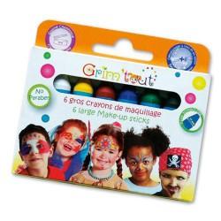 6 crayons de maquillage Couleurs basiques - Sans paraben