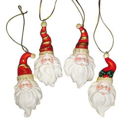 Pendentif en porcelaine Père-Noël