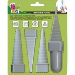 4 Mandrins formes géométriques pour fil aluminium