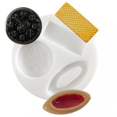 Mini moule silicone Biscuits et Gaufrette