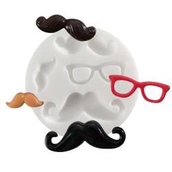 Mini moule silicone Moustaches