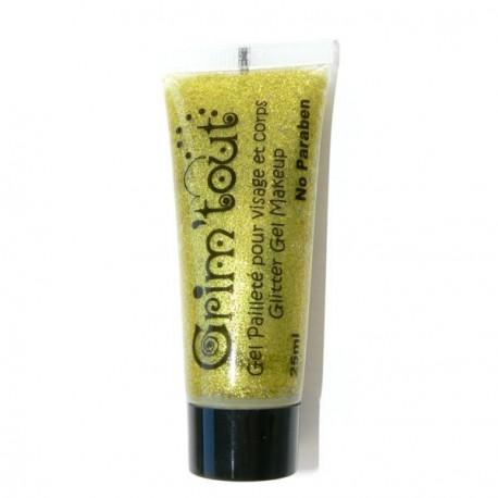 Maquillage Gel pailleté Or 25 ml - Sans paraben