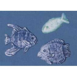 Motifs en cire, poissons