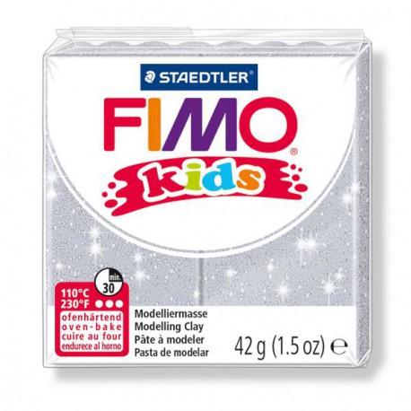 Fimo Kids Gris pailleté 812 - 42 gr