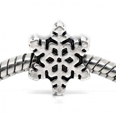 Métal Flocon de neige style Pandora - à l'unité