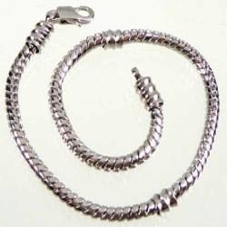 Bracelet style Pandora avec vis 17 cm argenté