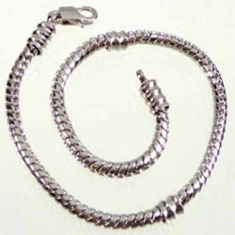 Bracelet style Pandora avec vis 19 cm argenté