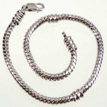 Bracelet style Pandora avec vis 22,5 cm argenté