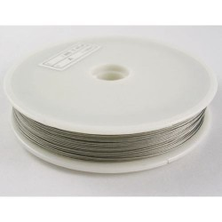 Fil cable gris 0,45 mm x 50m