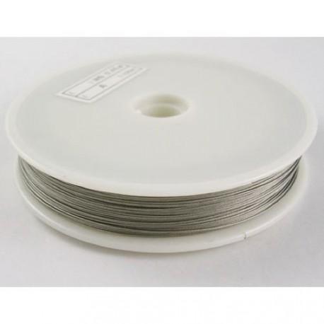 Fil cable gris 0,45 mm x 50m