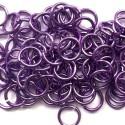 Anneau aluminium violet, 8 mm x10