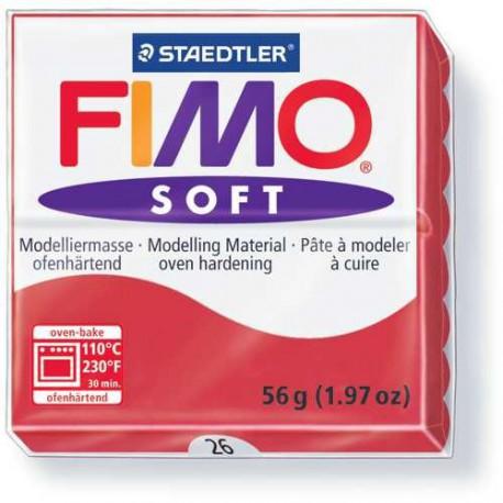Fimo Soft Cerise 26 - 57 gr