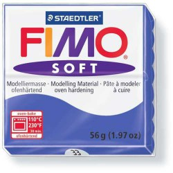 Fimo Soft Bleu Brillant 33 - 56 gr