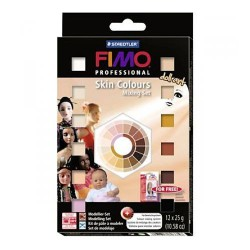 12 Pains Couleurs Peaux Fimo Professional Doll Art