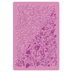 Plaque de texture Coeurs 20 x 13 cm