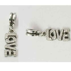 Métal Mot Love style Pandora - à l'unité