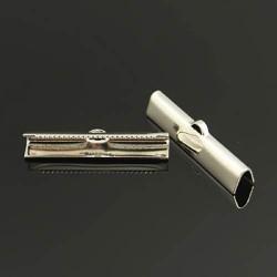 Embout métal pince à griffe 25 x 5 mm - la paire