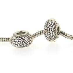 Perle de verre peau de serpent style Pandora - à l'unité