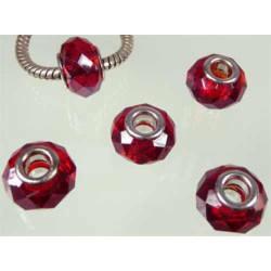 Perle à facettes Rouge style Pandora - à l'unité